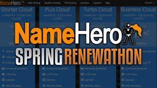 "Announcing NameHero's Spring ""Renewathon"" - Save Up To 50% Off Your Web Hosting Renewal!"