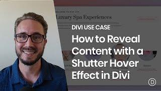 How to Reveal Content with a Shutter Hover Effect in Divi