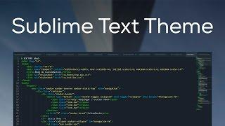 Mi theme de Sublime Text y Como instalar Themes