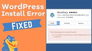 """How to Fix WordPress """"Installation Already Exists"""" Issue"""