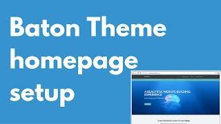 Baton Free WordPress theme   Homepage setup   Multi-purpose theme   Drag and drop