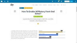 How To Enable Frontend Editor In WPBakery WordPress Plugin?