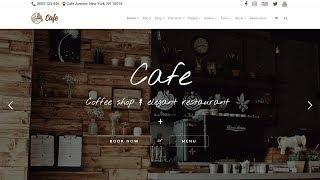 Cafe WordPress Theme - Coffee Shop, Restaurant & Bar Website Builder