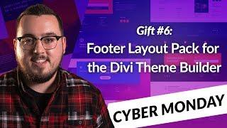 Exclusive Divi Cyber Monday Gift #6: An Impressive Footer Layout Pack for the Divi Theme Builder