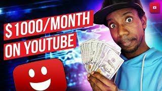 HOW TO MAKE $1000 ON YOUTUBE  (10 Ways to Make Money on YouTube)