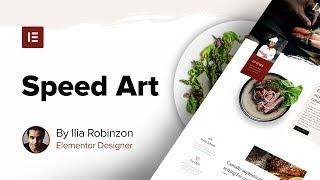 100% Elementor Web Design Speed Art - Plus New Restaurant Template Set