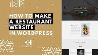 Restaurant Website Design Tutorial | Building a Restaurant Website with WordPress [EASY]