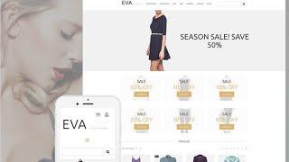 Apparel Responsive MotoCMS Ecommerce Template #58481