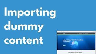 Baton WordPress free theme importing content   Multi-purpose theme