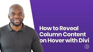 How to Reveal Column Content on Hover with Divi