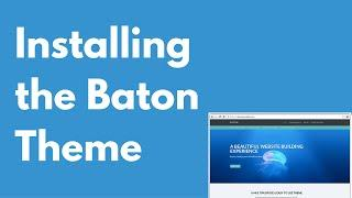 How to install the Baton WordPress free theme   Multi-purpose theme   Drag and drop