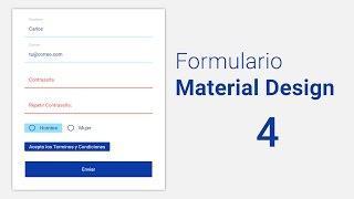 [Taller] Como hacer un Formulario estilo Material Design 4.- Boton Submit