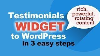 WordPress Testimonials: FREE Plugin To Add Slider Testimonials