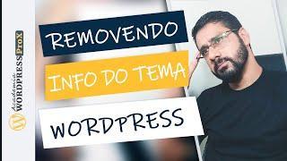 """Como Remover o Link do """"Powered By Wordpress"""" do Rodapé de Temas Gratuitos Via CSS e Plugin"""