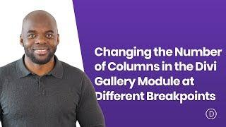 Changing the Number of Columns in the Divi Gallery Module at Different Breakpoints