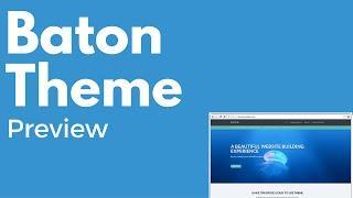 Baton WordPress free theme   Multi-purpose theme   Drag and drop   PREVIEW