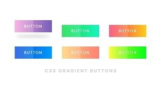 CSS Gradient Button Hover Effects   Html CSS