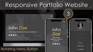 Responsive Portfolio Website [3] - Rotating Menu Button