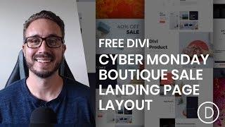 Download a FREE Cyber Monday Boutique Sale Landing Page for Divi