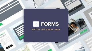 Elementor Forms Sneak Peek: Design Forms Visually and Intuitively