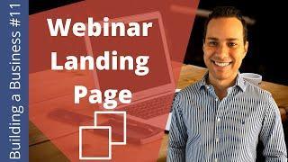 Webinar Landing Page Sales Copy: Boost Registrations - Building an Online Business Ep. 11