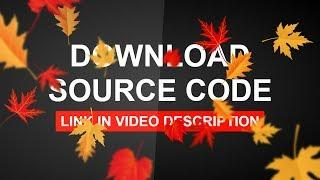 Pure CSS Leaves Animation Effects | Download Source Code and Tutorial's Link in Description