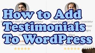 How to add TESTIMONIALS to WordPress