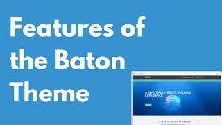 Baton WordPress free theme features   Multi-purpose theme   Drag and drop   PREVIEW