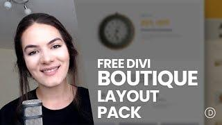 Get a FREE & Refined Boutique Layout Pack for Divi