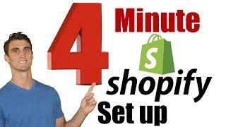 4-Minute Shopify Setup - How to Set Up an Online Store Fast
