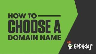 How to Choose a Domain Name | GoDaddy